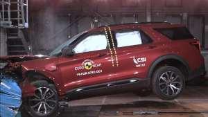 想买大的SUV?来看看福特探险者和大众途锐碰撞结果