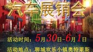 5月30日到6月1日聊城欢乐小镇购车节