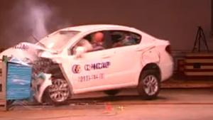 中华H230 C-NCAP安全测试40%偏置碰撞