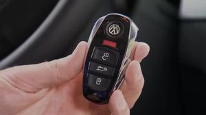 2015款大众途锐 车钥匙操作详细说明