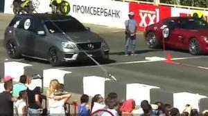 莫斯科直线加速 SLS完胜同门ML63 AMG