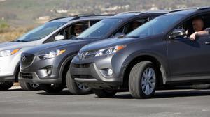 SUV紧急制动避险测试 斯巴鲁森林人夺冠