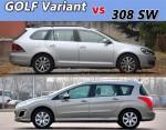 紧凑级旅行车导购 GOLF Variant对比308SW
