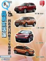 四款进口四驱SUV车型推荐 品质生活派