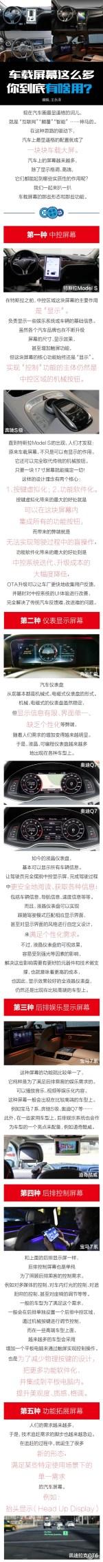 车载屏幕这么多 你们到底有啥用?