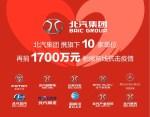 北汽集团携10家成员单位 再捐1700万 驰援前线疫情