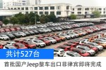 首批国产Jeep整车出口菲律宾即将完成 共计527台