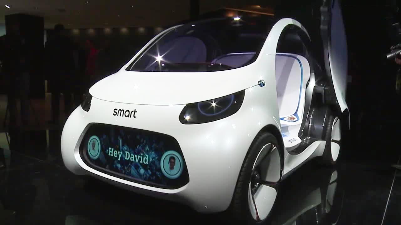 Smart Vision EQ概念车 亮相法兰克福