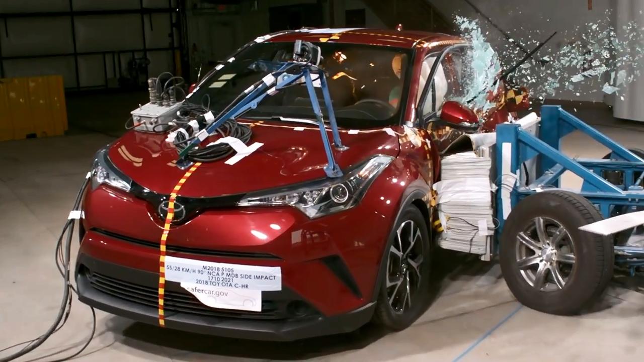 2018款丰田C-HR NHTSA侧面碰撞测试-丰田汽车报价 图片 2017丰田高清图片
