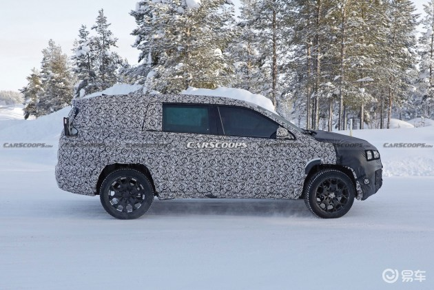 Jeep全新七座SUV渲染图曝光 基于指南者平台打造